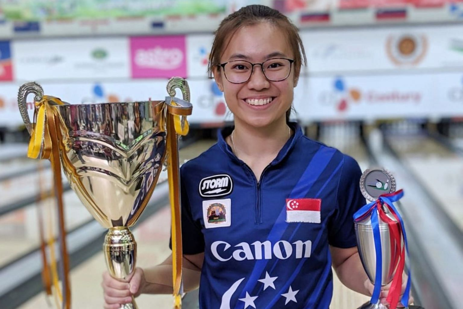 Charlene Lim is all smiles after winning the Malaysian International Open women's open title.