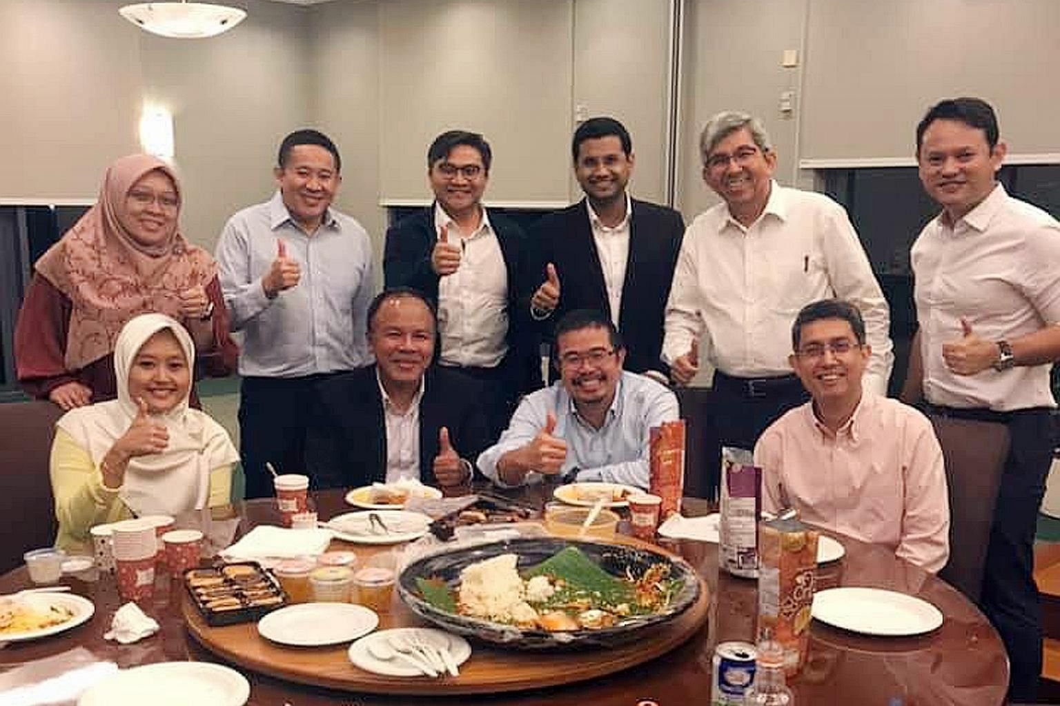 People's Action Party (PAP) and Workers' Party (WP) MPs breaking fast together on Wednesday, a day of a marathon debate in Parliament over new laws to fight online falsehoods. The Online Falsehoods and Manipulation Bill was passed at around 10.20pm,