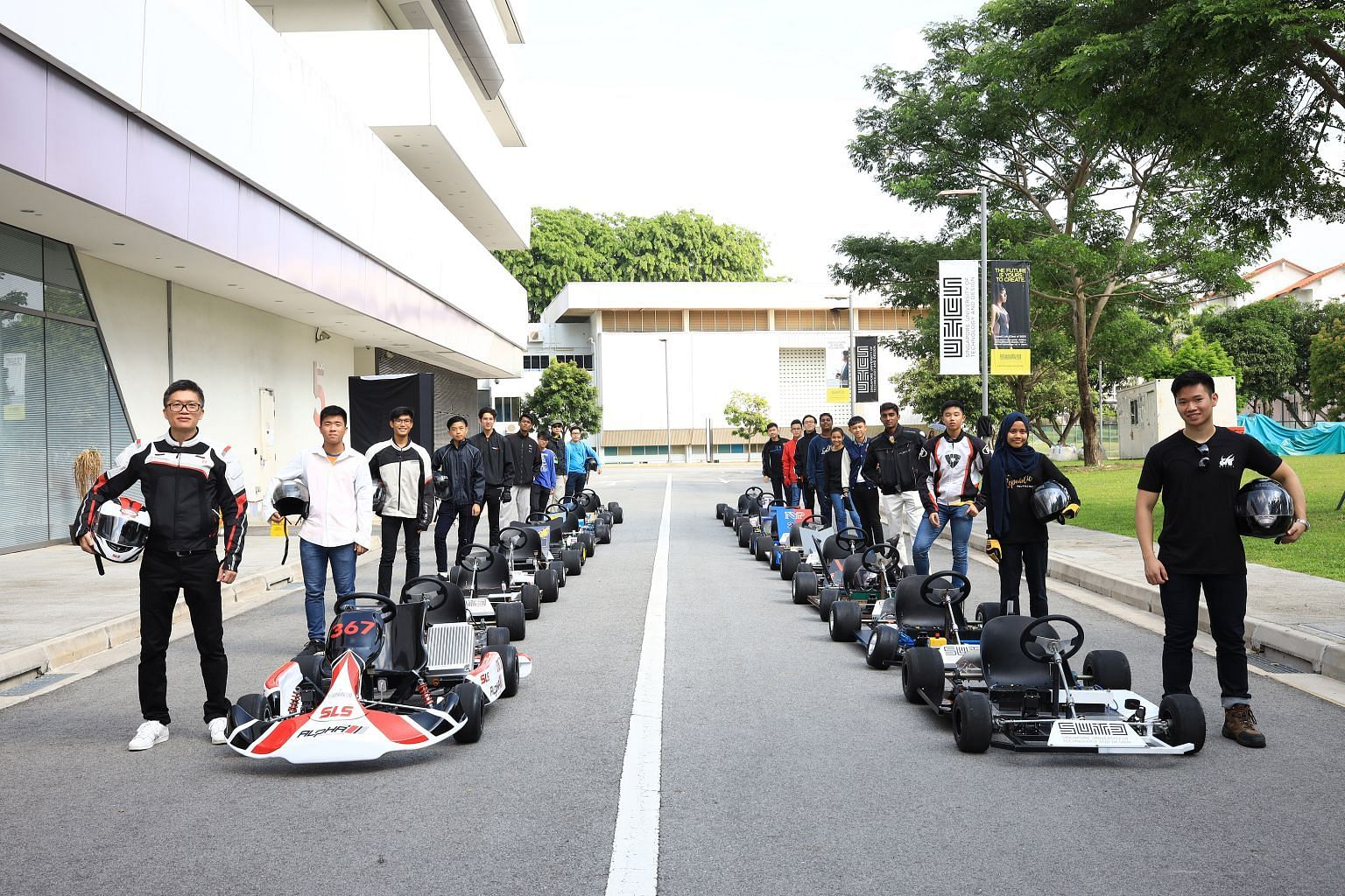 Participants in the Singapore University of Technology and Design's EV Design Challenge.