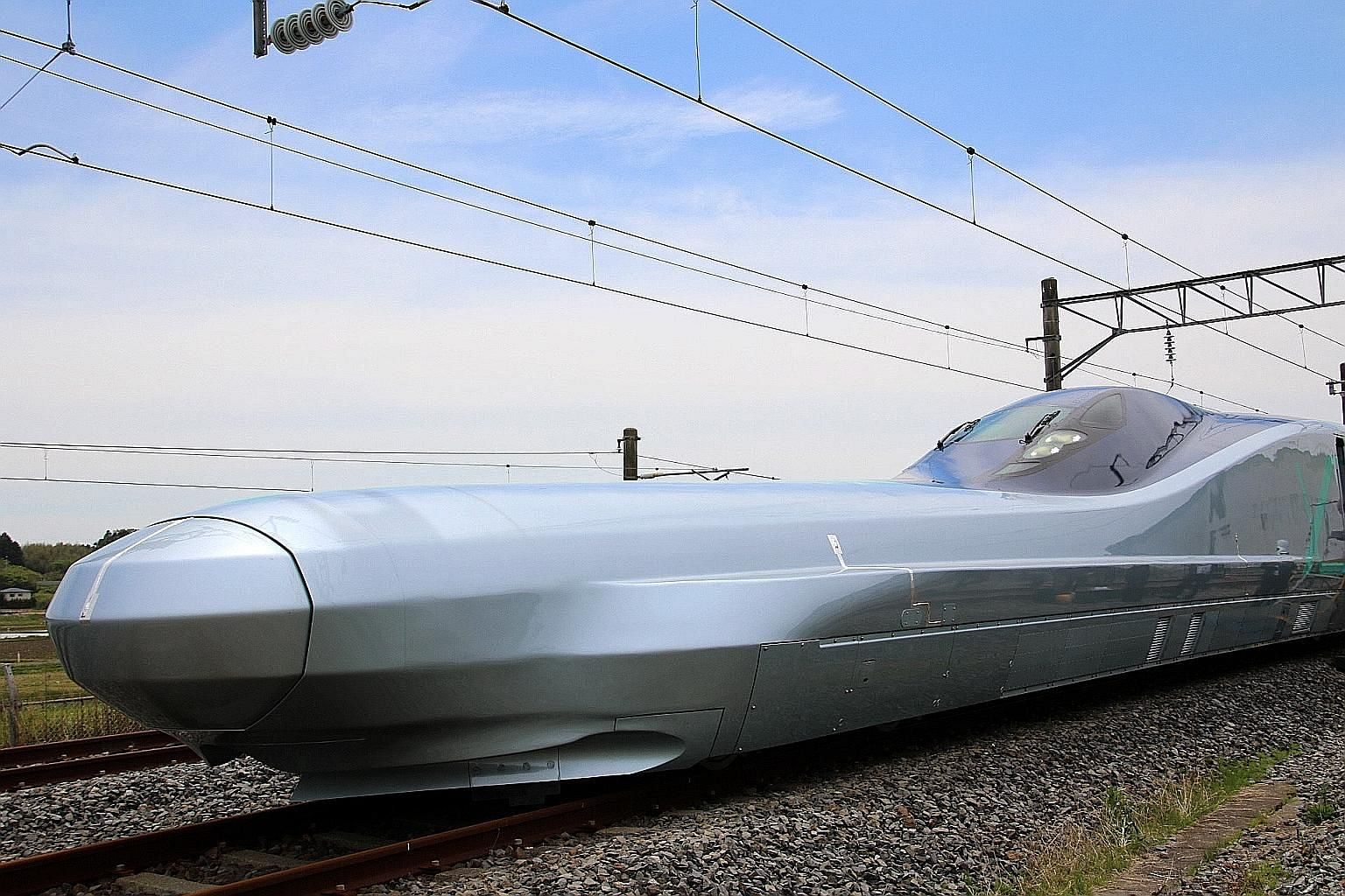 The 10-car bullet train, called the Alfa-X, is scheduled to go into service in 2030 and is capable of speeds of as much as 400kmh.