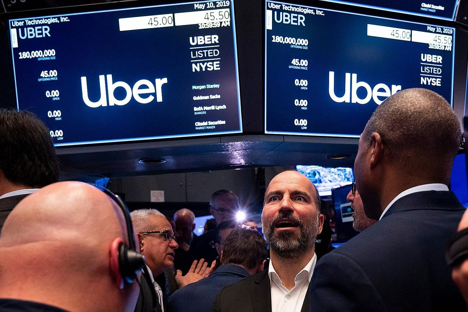 Uber made its debut on the New York Stock Exchange last Friday and never traded above its IPO price. The IPO came as investors shunned riskier assets given US-China trade tensions, said analyst Ygal Arounian.