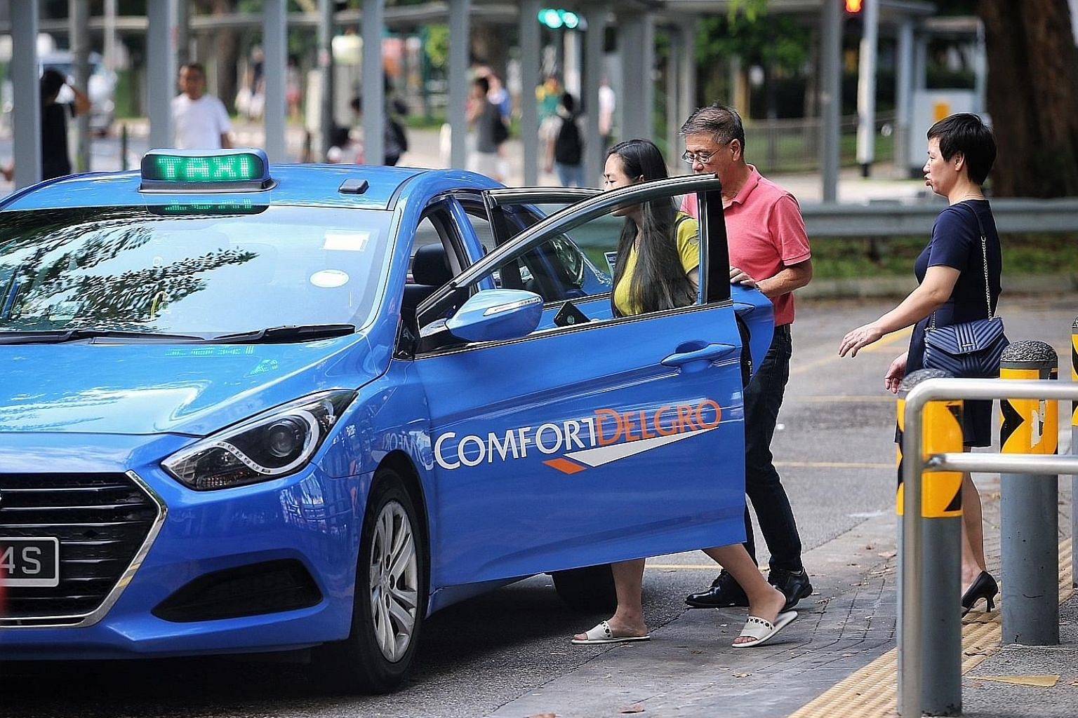 ComfortDelGro said bookings for its taxi business are holding steady. It will continue converting older diesel taxis, which have relatively high certificate of entitlement premiums, to petrol-electric hybrid models. This will result in tax and deprec