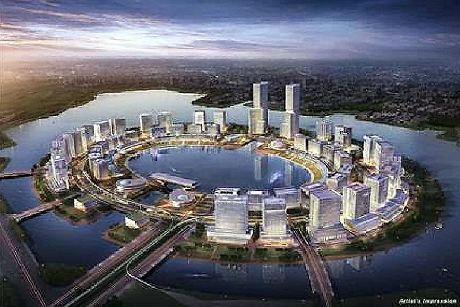 CDL has agreed to acquire a 70 per cent stake in Shanghai Hongqiao Sincere Centre (Phase 2), a commercial property in Hongqiao Central Business District, from Sincere Property Group for 1.2 billion yuan (S$239 million). An artist's impression of Zhen