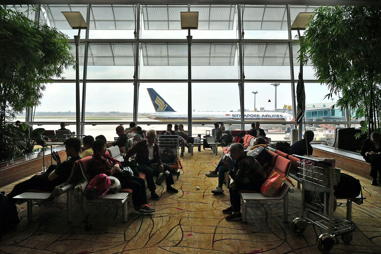 During the financial year, Singapore Airlines carriers - the parent airline, SilkAir and Scoot - filled an average of 83 per cent of all seats. This was a record for the group.