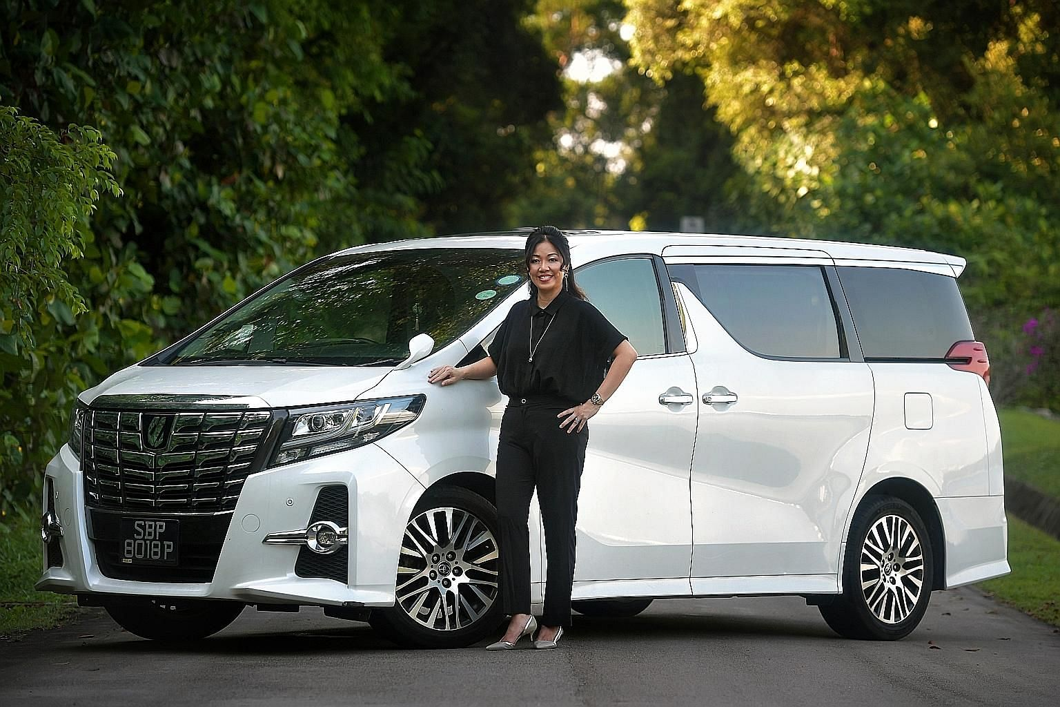 Ms Kua Hwee Cheng replaced her German cars with the Toyota Alphard, which is her first Japanese car and the biggest she has driven.