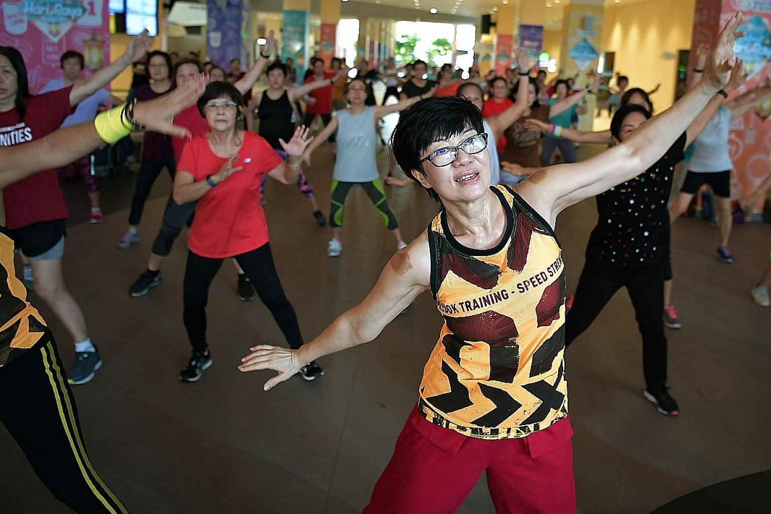 Ms Linda Loh joined exercise classes to combat loneliness when her grown-up children moved out of the family home. Today, she works out with a group of exercise enthusiasts who call themselves Bedok Sweeties.