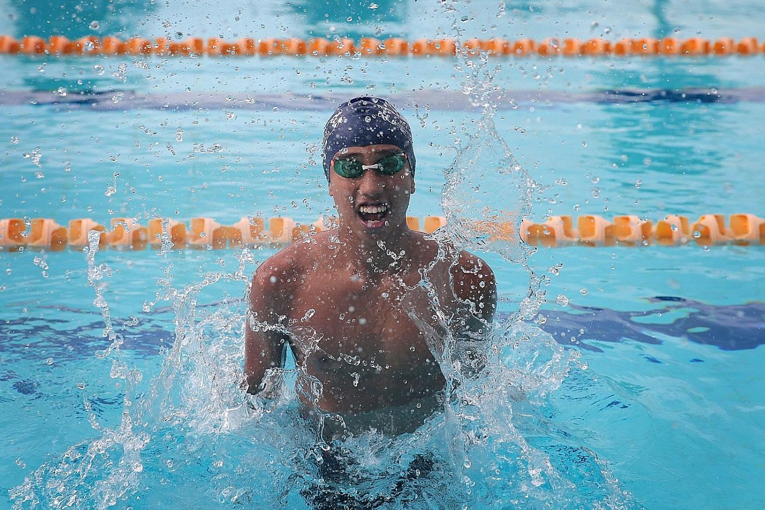 Outram Secondary School swimmer Ardi Zulhilmi Mohamed Azman overcame sudden illness to win the B boys' 1,500m freestyle at the Schools National Swimming Championships last month. He also won the 200m individual medley gold.