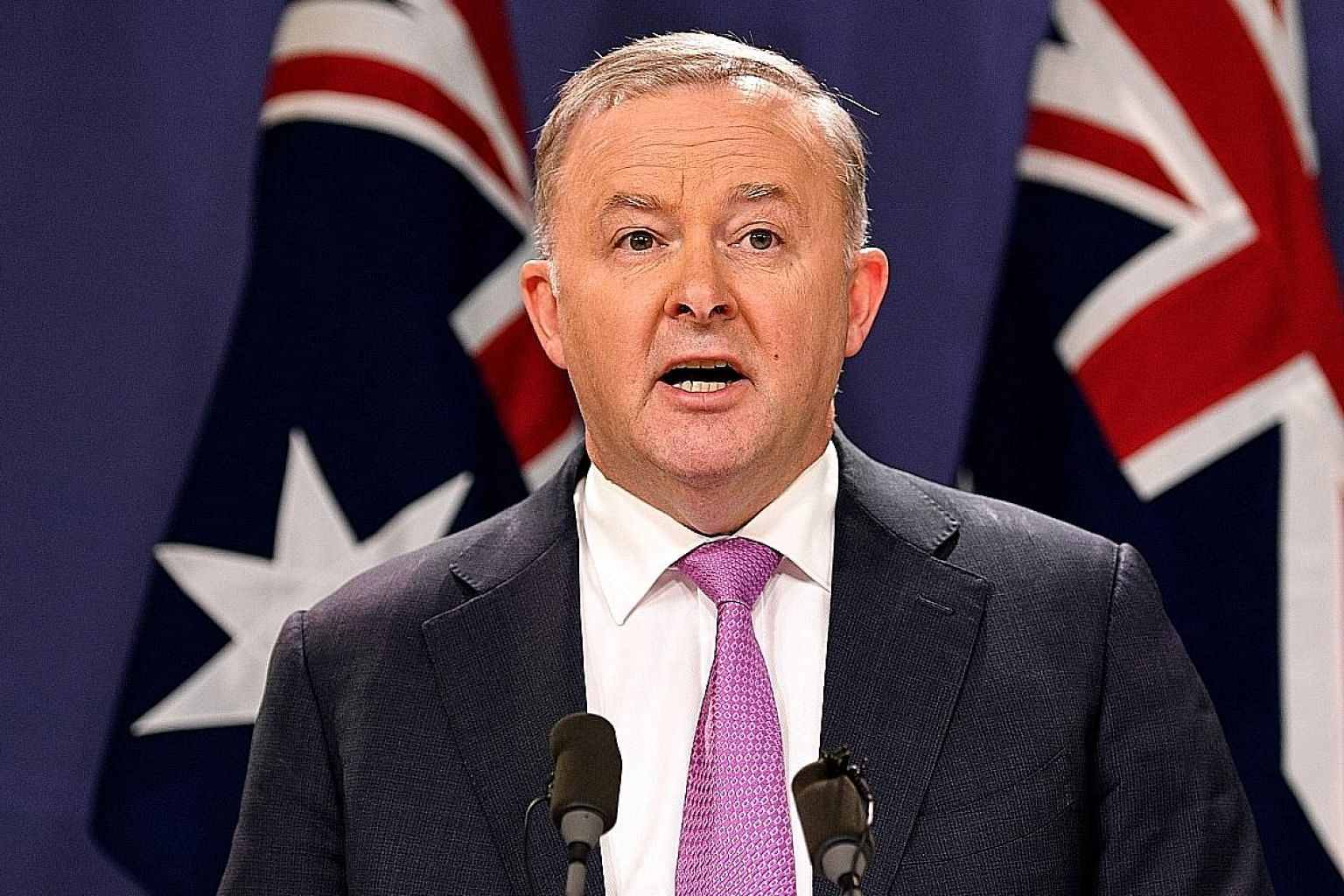 """Mr Anthony Albanese has vowed to create a """"larger, more inclusive party""""."""