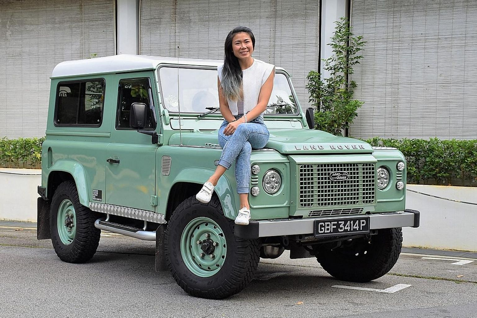 Ms Serena Darcel Chin bought her Land Rover Defender on online marketplace Carousell - where she also works as senior in-house legal counsel - for $42,000.