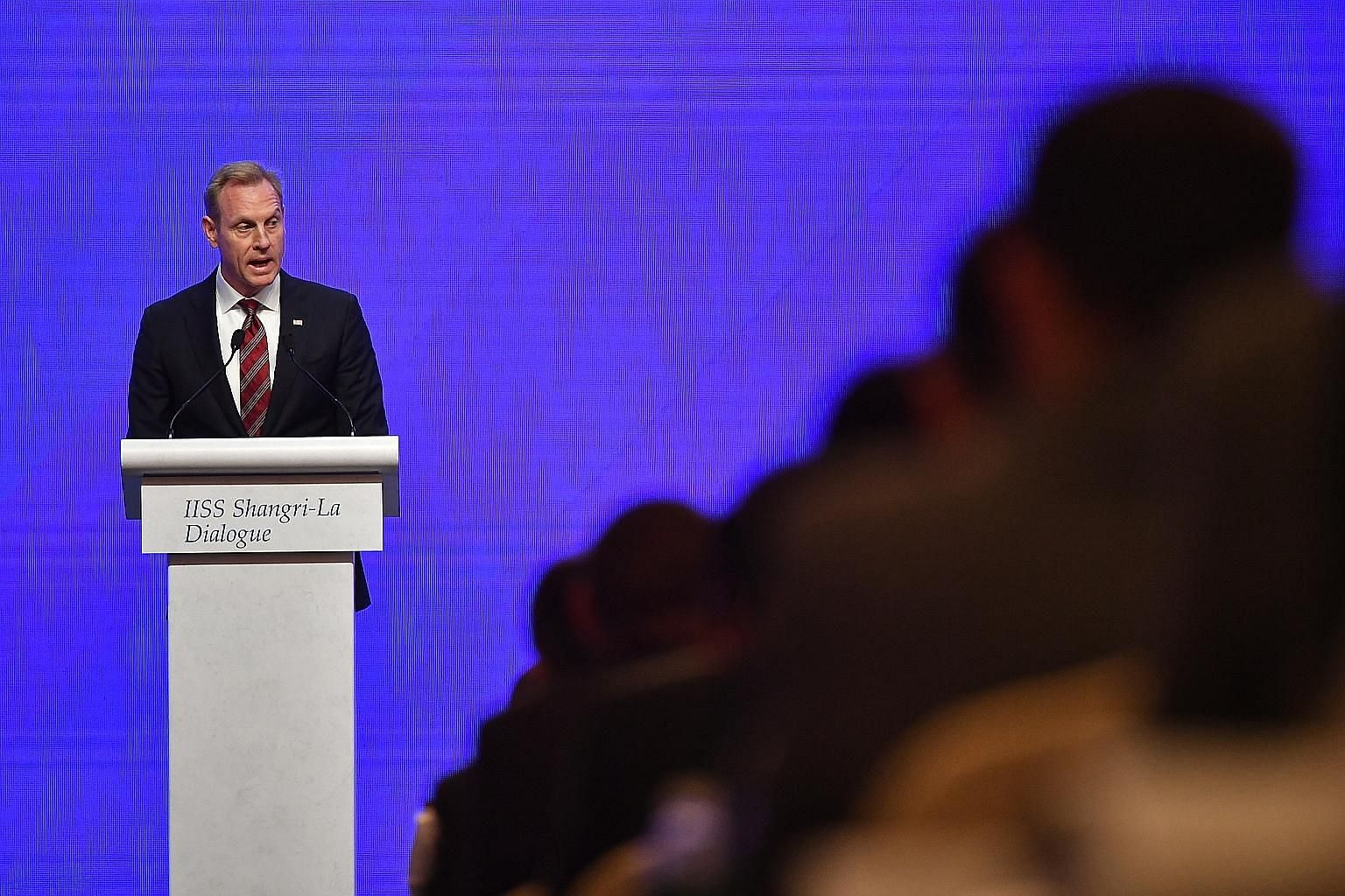 Acting US Defence Secretary Patrick Shanahan urged allies and partners to invest in their own defence to strengthen deterrence and uphold a rules-based international order to maintain a level playing field.