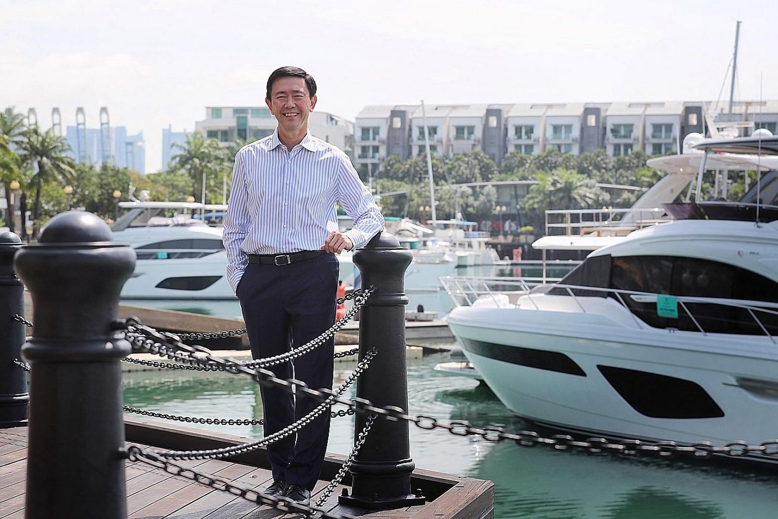 Mr Arthur Tay, executive director and chief executive of SUTL Enterprise, says it is his firm's dream to adorn a string of pearls along the beautiful coastlines of the world with each pearl representing a ONE°15 marina, where the international boati