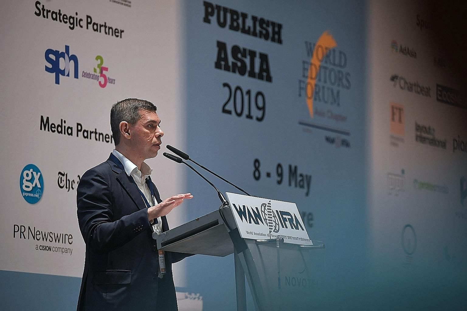 On his plans as WEF president, ST editor Warren Fernandez said a key task is making the case for the importance of professional newsrooms in delivering the quality and credible content.