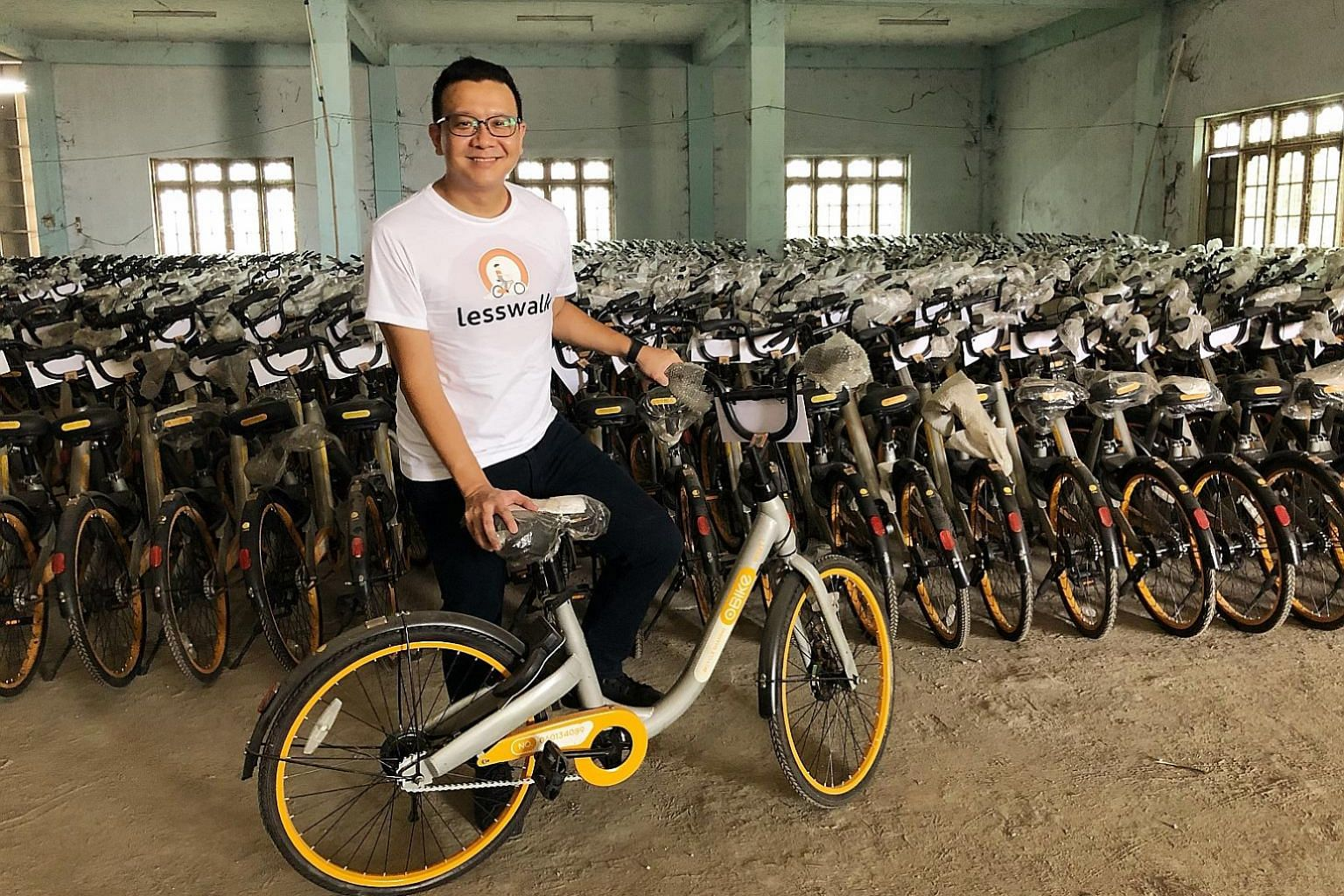 Mr Mike Than Tun Win, founder of Lesswalk, aims to distribute 10,000 bicycles from failed bike-sharing firms oBike and ofo to needy students in Myanmar by the year end. He hopes his work will inspire a coordinated movement worldwide.