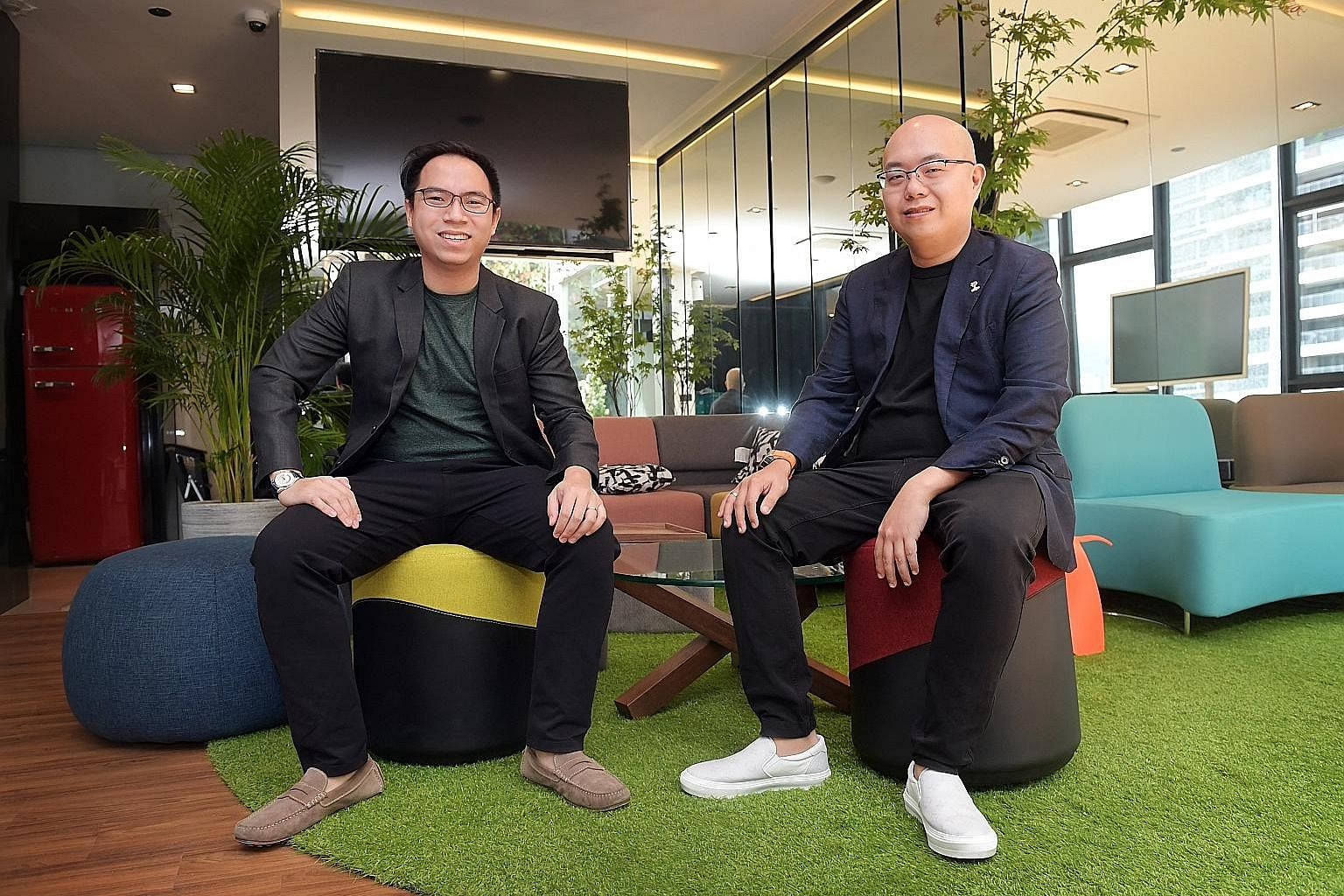 Boogle chief operating officer Christofle Rio (left) and co-founder and chief technical officer Darren Goh. The Boogle search engine, built on a hybrid blockchain, promises search results that are free from monopolistic control or jurisdictional rest