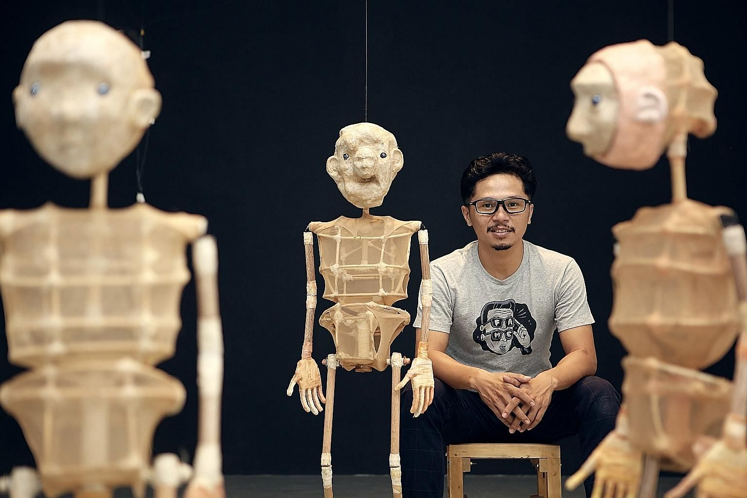 Artist Iwan Effendi says the most important feature of puppets is the face.