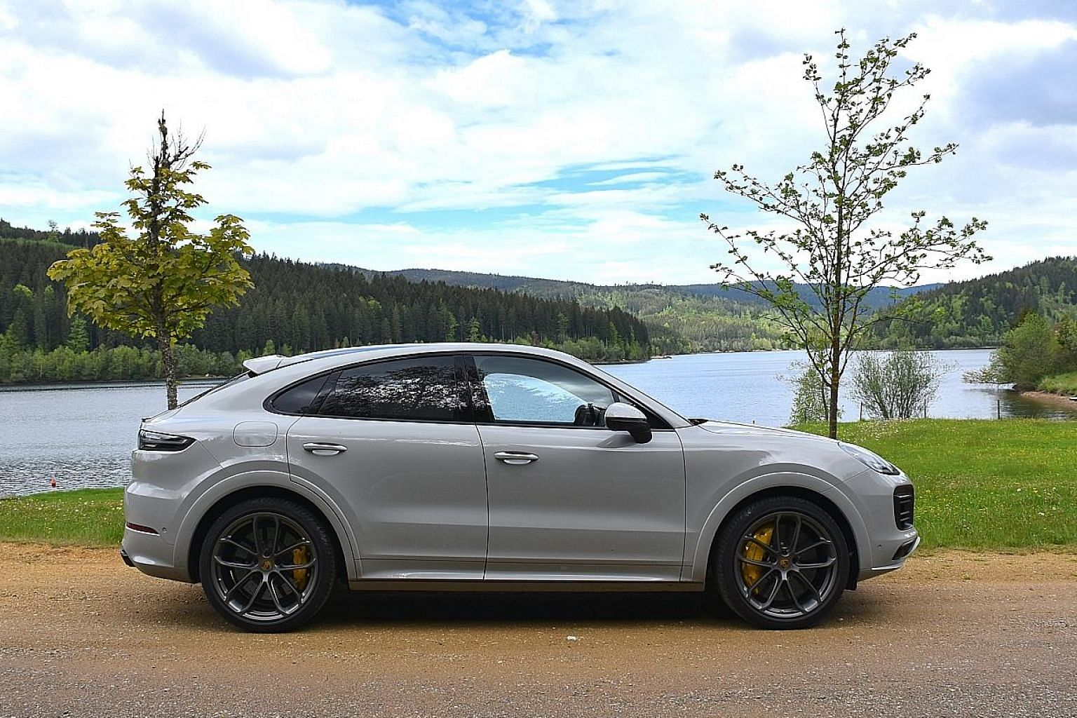 The Porsche Cayenne S Coupe packs a twin-turbocharged V6 engine with an output of 434hp.
