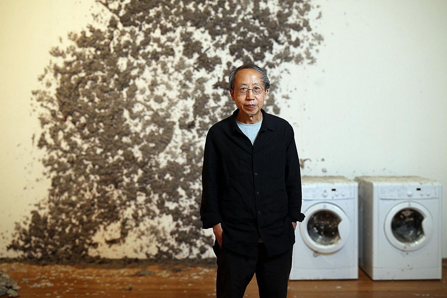 Artist Huang Yong Ping with his installation, Reptiles, which will be on display at Awakenings: Art In Society In Asia 1960s-1990s.