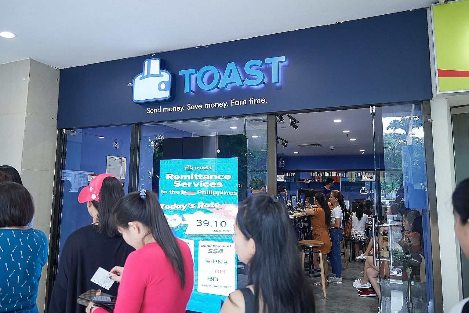 "Toast Me, a remittance firm in Lucky Plaza, is said to have offered a Philippine maid a ""cash advance"", albeit with a hefty 10 per cent interest. These firms are not licensed moneylenders under the oversight of the Registry of Moneylenders."