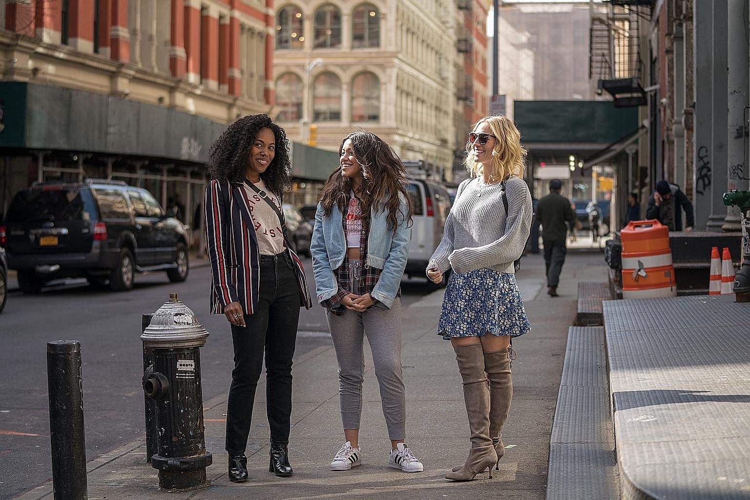 Three friends (from left, DeWanda Wise, Gina Rodriguez and Brittany Snow) learn to be comfortable with themselves in Someone Great.