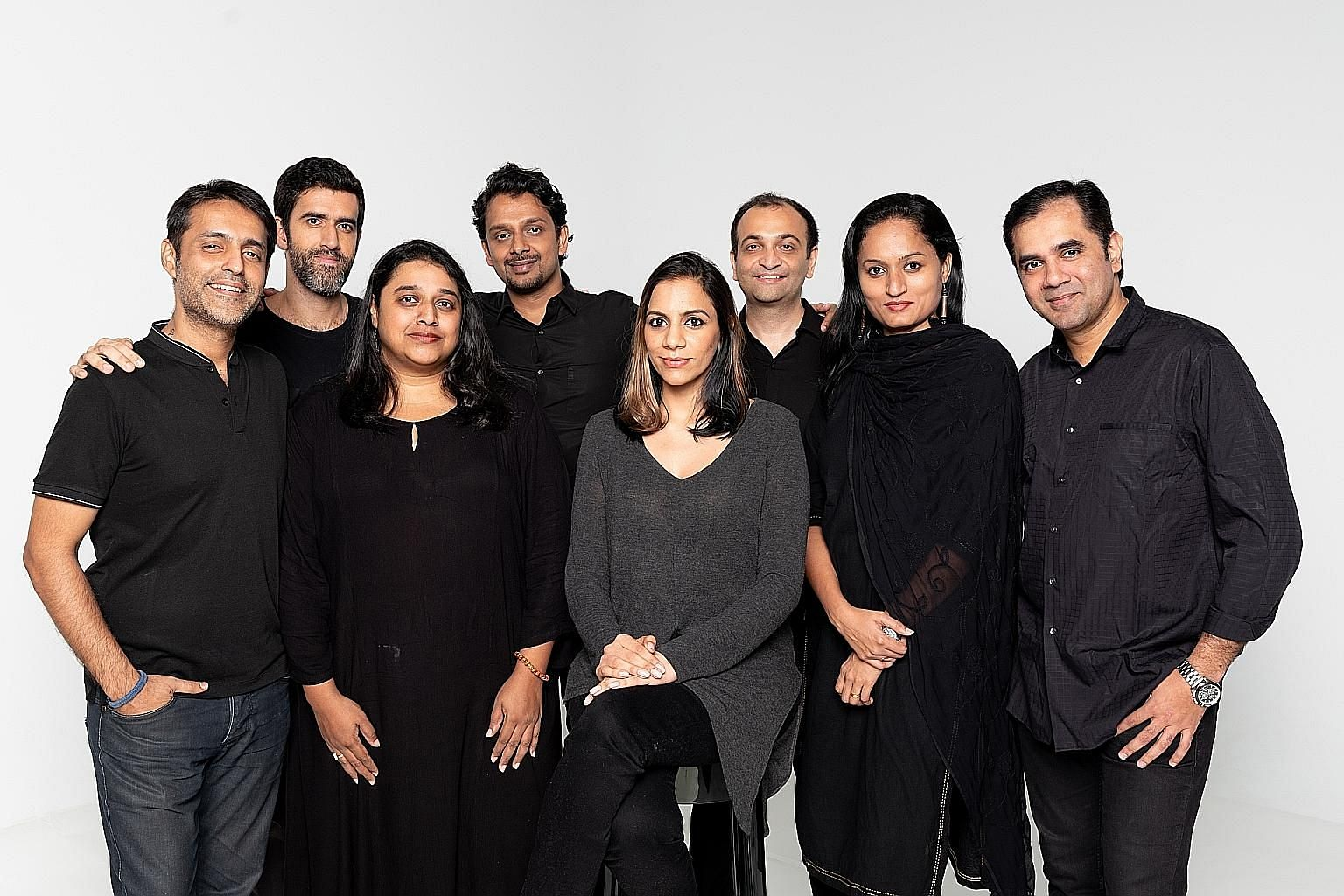 Directed by Sharul Channa (above, fifth from left), Papa stars (from left) Neeraj Sujanani, Rishi Budhrani, Rachita Arke, Raghu Narayanan, Vishal Khattri, Veena Bangera and Amit Joshi.