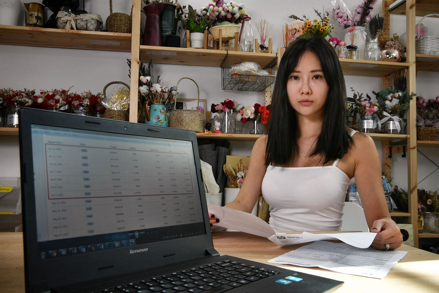 Ms Wendy Han, co-founder of online flower shop Floristique, said she discovered on Wednesday that hackers had entered its Shopify account and changed the shop's bank account details to their own. As a result, the sales proceeds went directly to the h