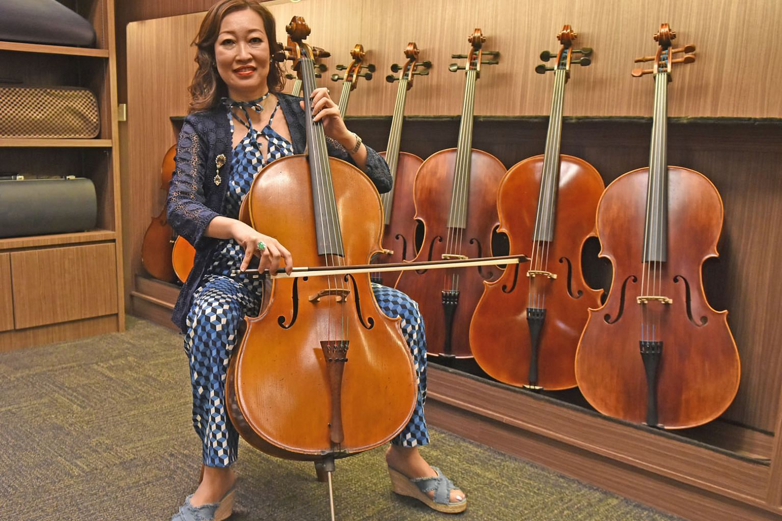 Ms Rita Yeo, director of Stradivari Strings, owns antique music instruments which have appreciated in value over time. She says that before she invests in anything, she spends time researching and understanding it, and makes sure it has high potentia