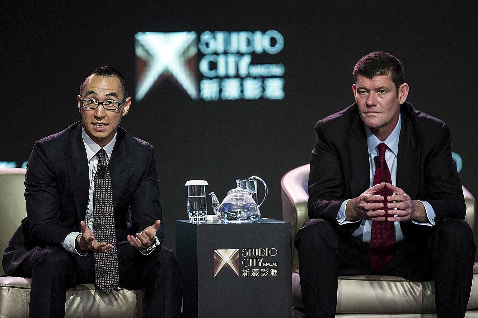 Mr Lawrence Ho's company has bought a 19.9 per cent stake in Australian tycoon James Packer's Crown Resorts gaming empire. PHOTO: REUTERS
