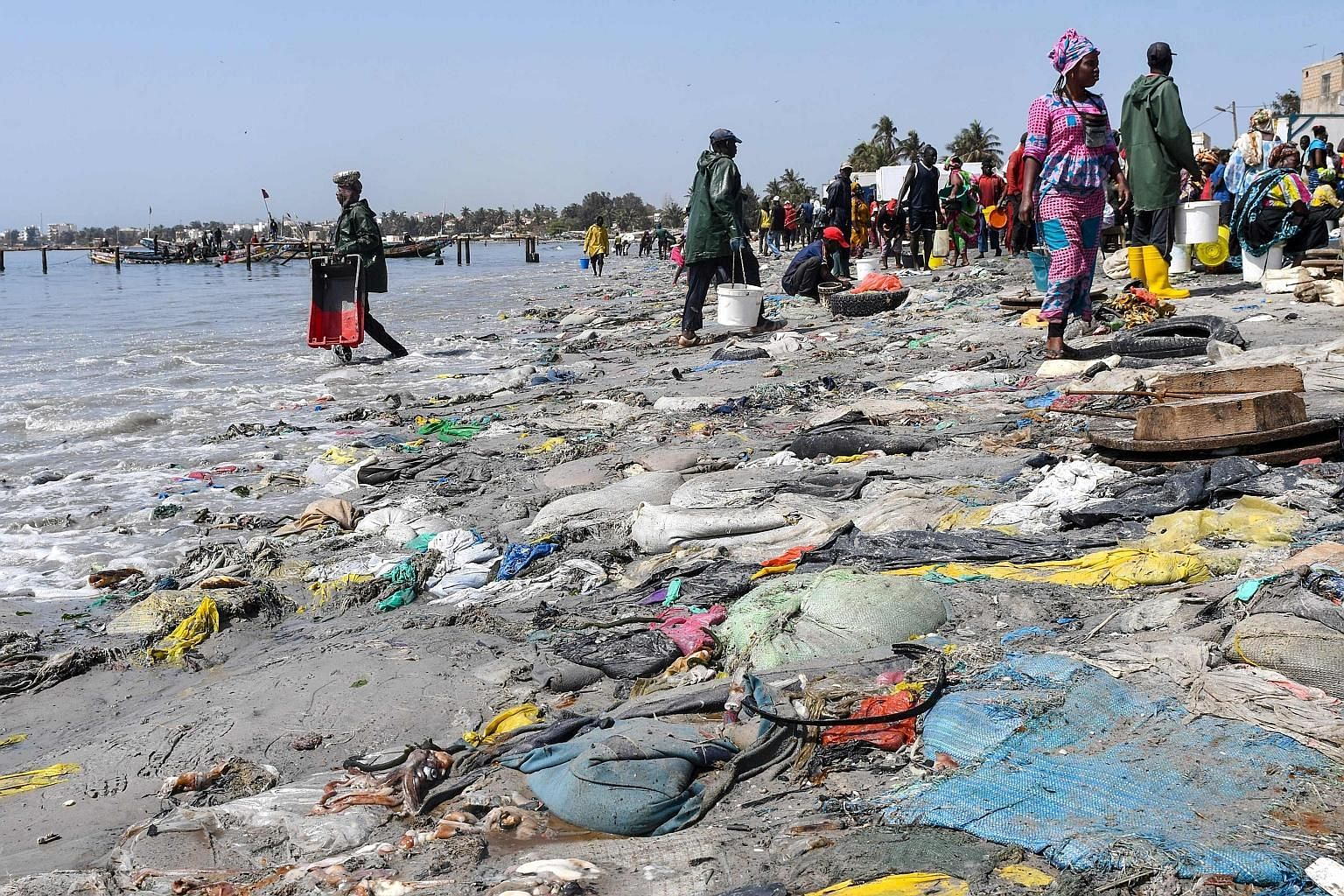 Tyre, plastic waste and dead fishes at Dakar's highly populated Hann Bay in Senegal. Under the agreement yesterday, G-20 member countries committed to reducing plastic waste that is choking the seas but gave little detail on how that would be done. T