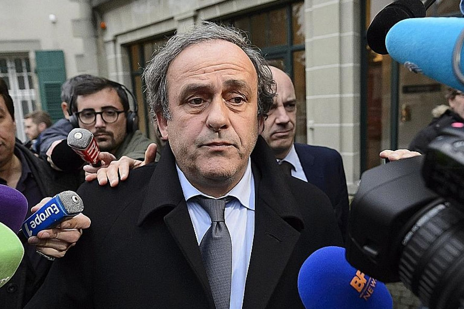 Former Uefa president Michel Platini, in a 2015 file picture, is believed to be under interrogation by the Anti-Corruption Office of the Judicial Police in Nanterre, near Paris. PHOTO: EPA-EFE