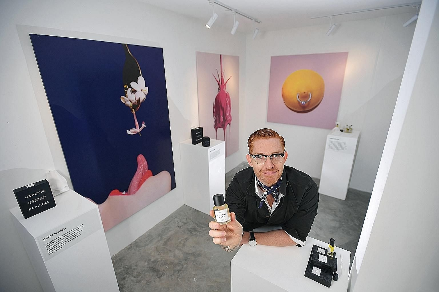 """Master perfumer Douglas Little hopes to portray """"natural"""" fragrances in a different way - as sexy and raw. He says synthetic fragrances often mask the true smell of something."""