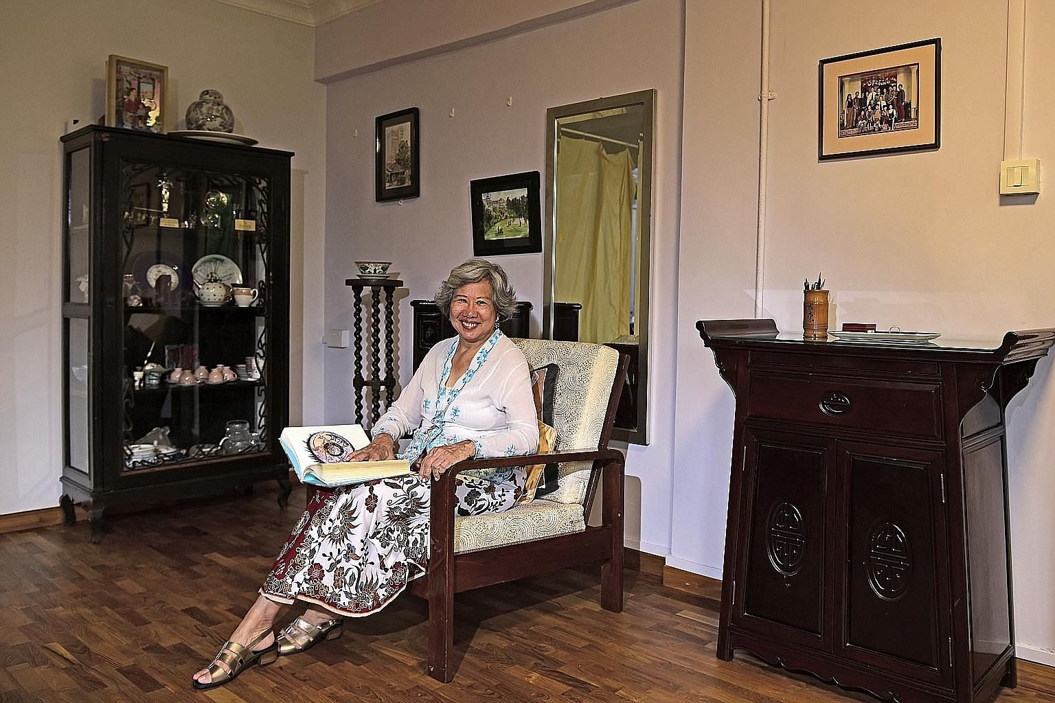 Author Stella Kon, seen here in her home, will read an excerpt of her famous monodrama, Emily Of Emerald Hill, at the festival.