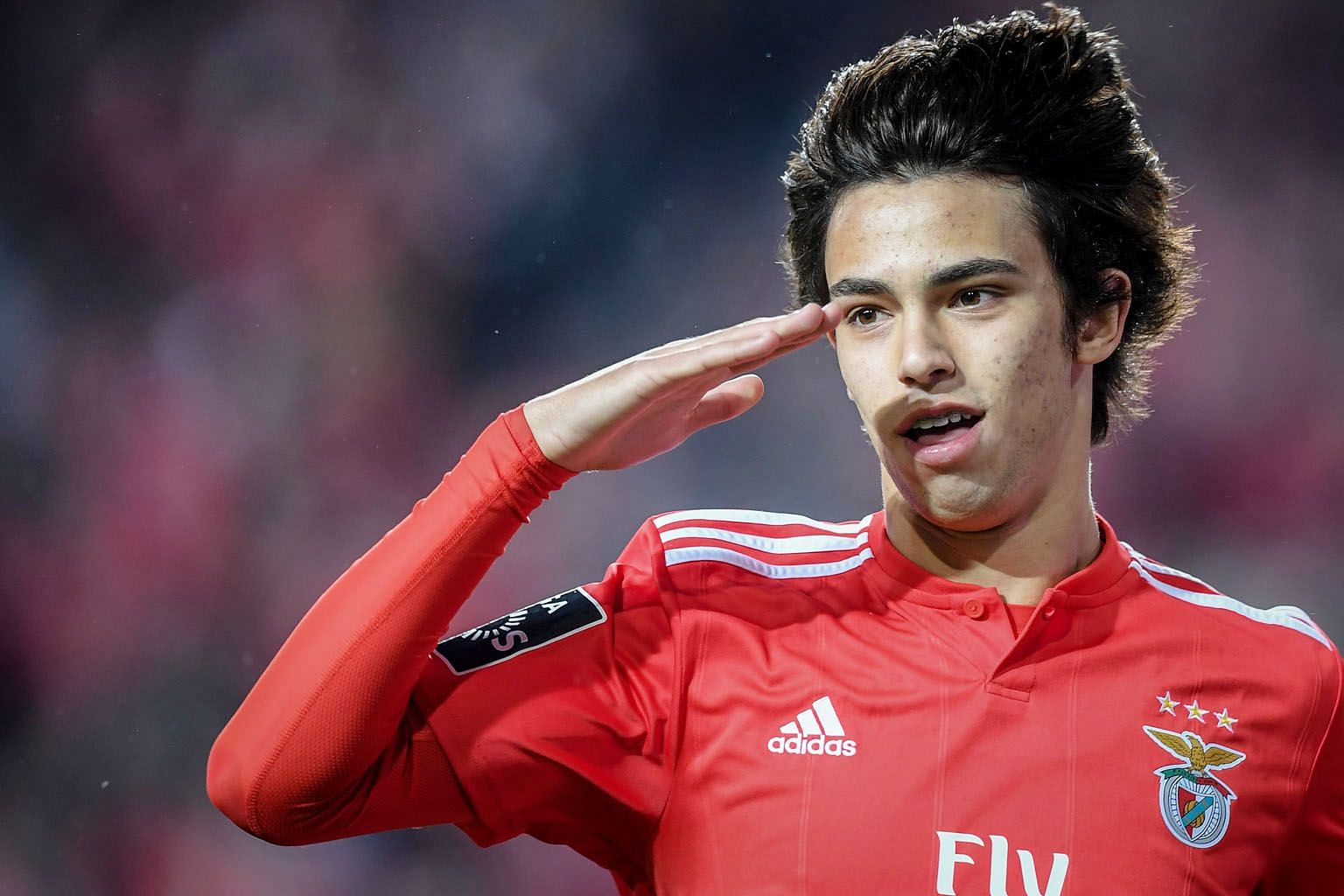 Benfica's Portuguese midfielder Joao Felix celebrating after scoring against Maritimo in the Portuguese Primeira Liga in April. Atletico want him as a replacement for Antoine Griezmann, who is set to join Barcelona. PHOTO: AGENCE FRANCE-PRESSE