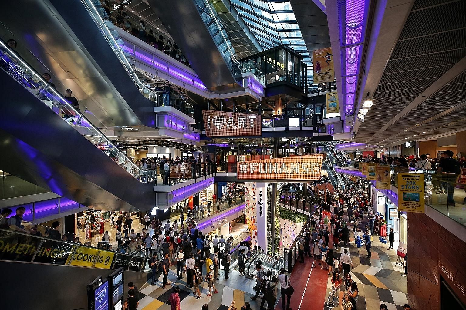 A six-storey steel structure called the Tree Of Life forms the centrepiece of the revamped mall, housing retail pods for brands to showcase their products on a pop-up concept and host workshops.