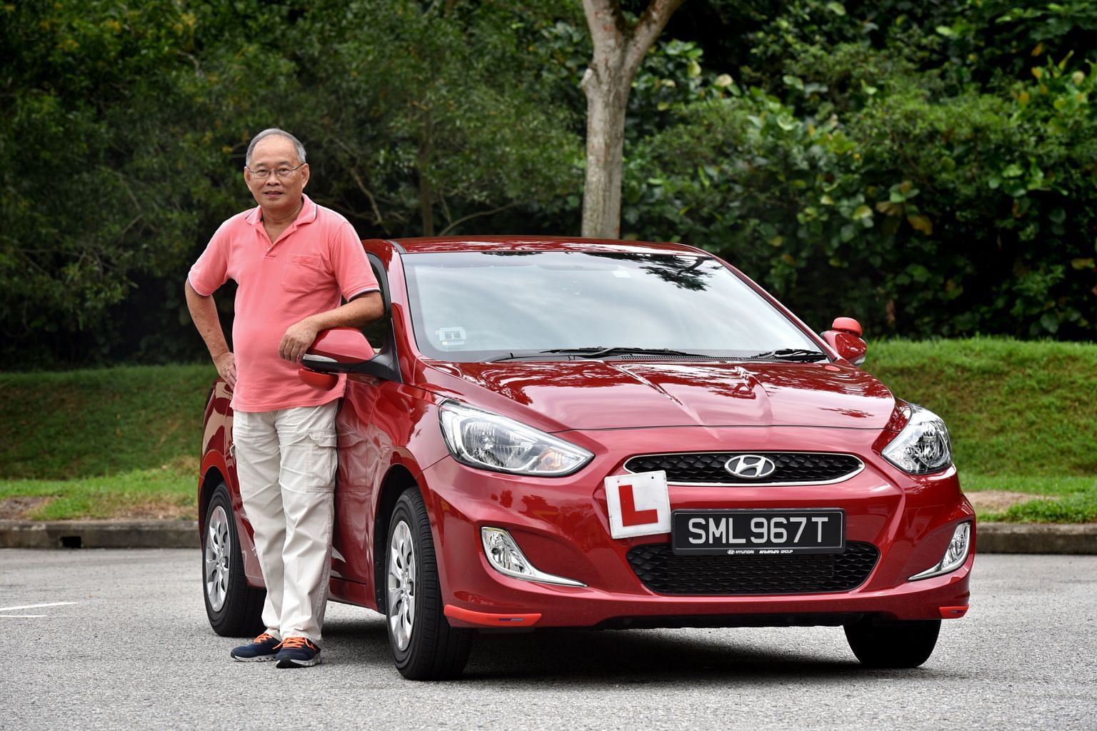Mr Paul Ong says the Accent's speedometer and tachometer are clearly visible, which is important for student drivers.