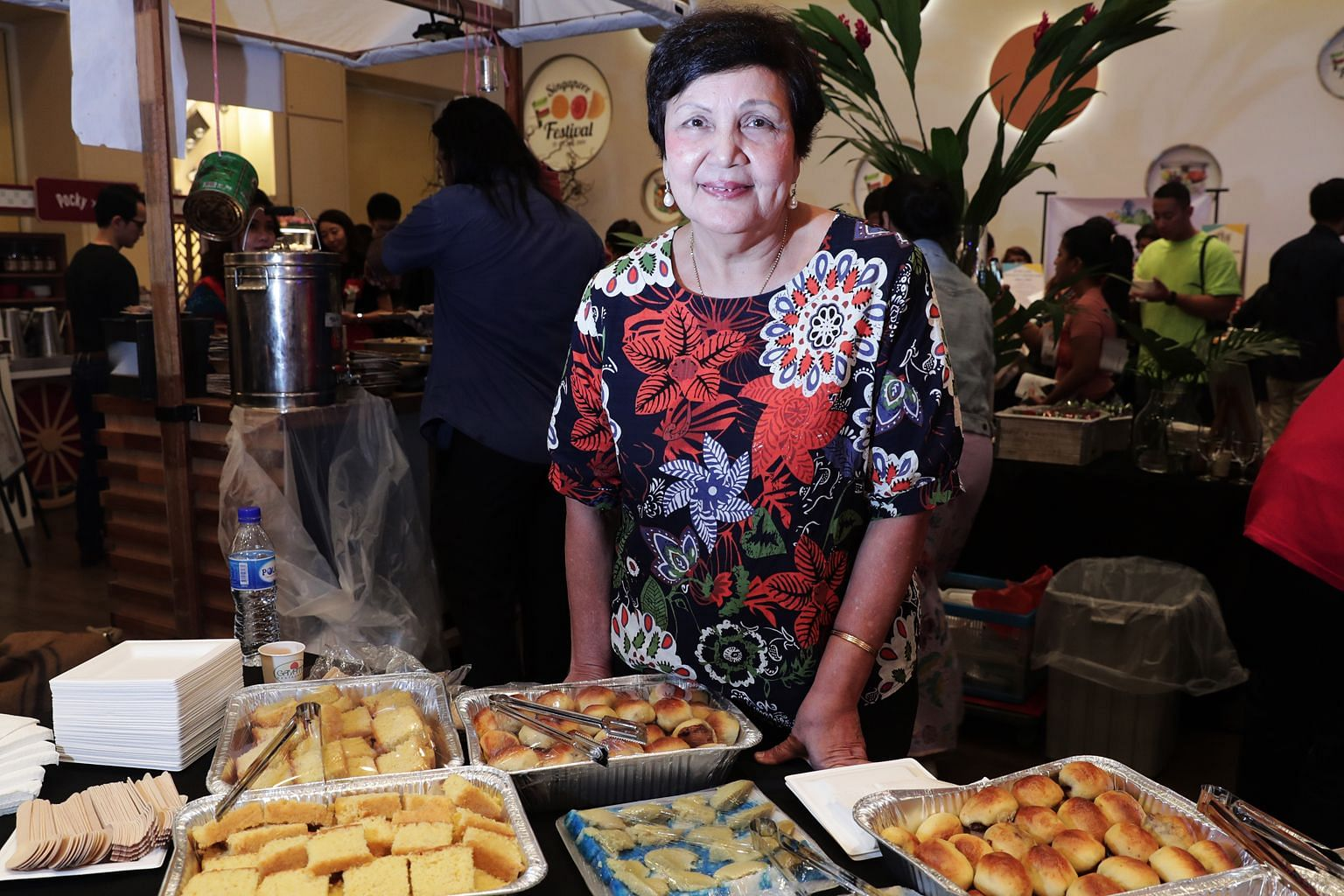 Madam Mary Gomes of Mary's Kafe, with kueh which will be available during the Kueh Appreciation Day on July 28.