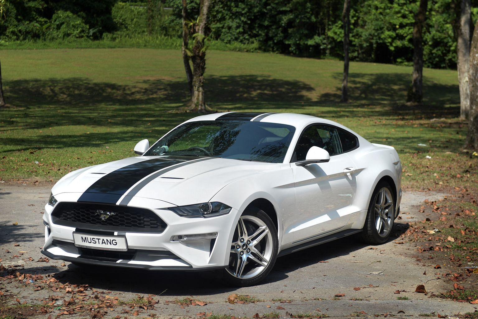 The Mustang is one of the only two models available at Ford agent Regent Motor's showroom in Alexandra Road.