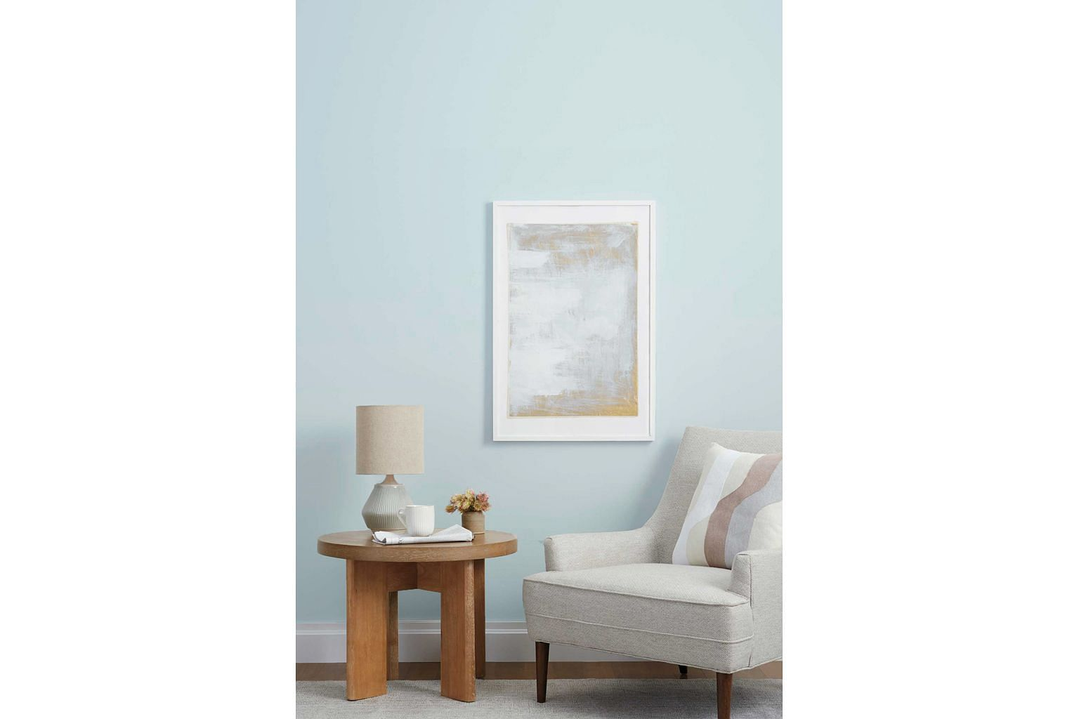 Paint company Clare recently invited fans to choose its new colour. The winner was Frozen, an icy, pale blue that conjures up images of icicles and crisp winter days.