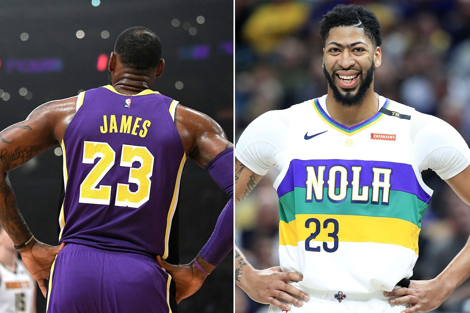 LeBron James will give up his No. 23 jersey to new Los Angeles Lakers teammate Anthony Davis, who will join them in exchange for players and a draft pick. Davis will also sacrifice a trade bonus.