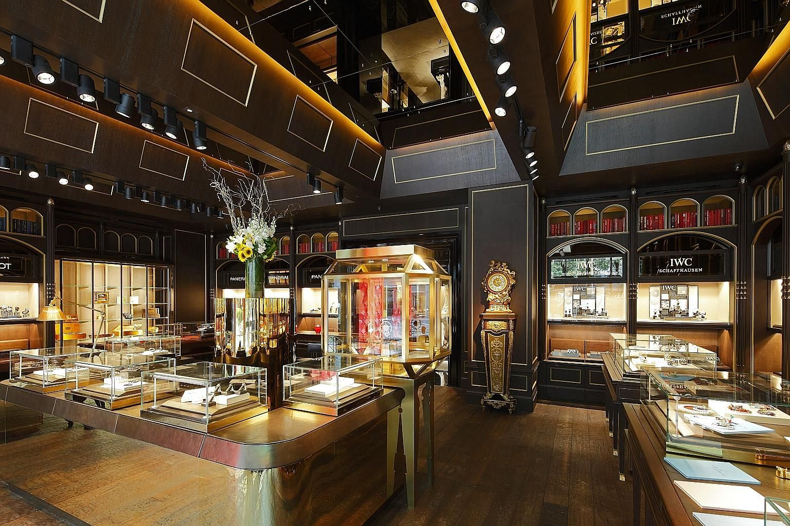 Malmaison by The Hour Glass in Orchard Road. Companies in the consumer discretionary sector such as The Hour Glass are worth looking at, given positive tailwinds for them, says KGI Securities analyst Joel Ng.