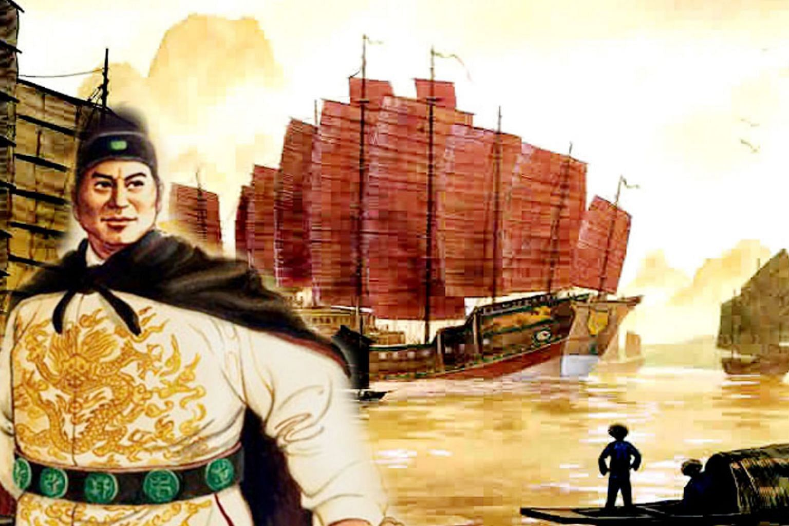 Following an imperial decree to spread China's knowledge and goodwill, Admiral Zheng He undertook seven expeditions between 1405 and 1433, sailing as far west as the Horn of Africa. As well as commanding these epic voyages, he also took on the roles