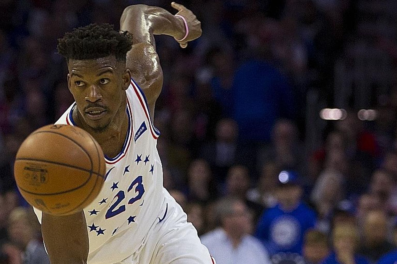 Jimmy Butler was another player targeted by the New York Knicks but ultimately fell through their clutches. The four-time All-Star joined the Miami Heat instead. PHOTO: AGENCE FRANCE-PRESSE