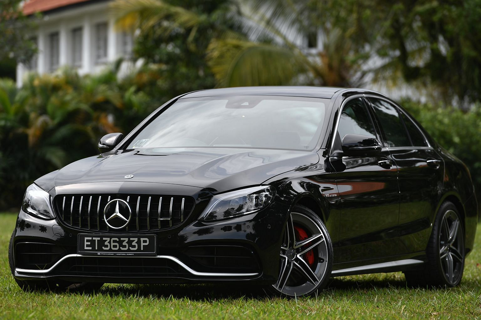 The Mercedes-AMG C63S Saloon has a new suede leather steering wheel with track-inspired functions.