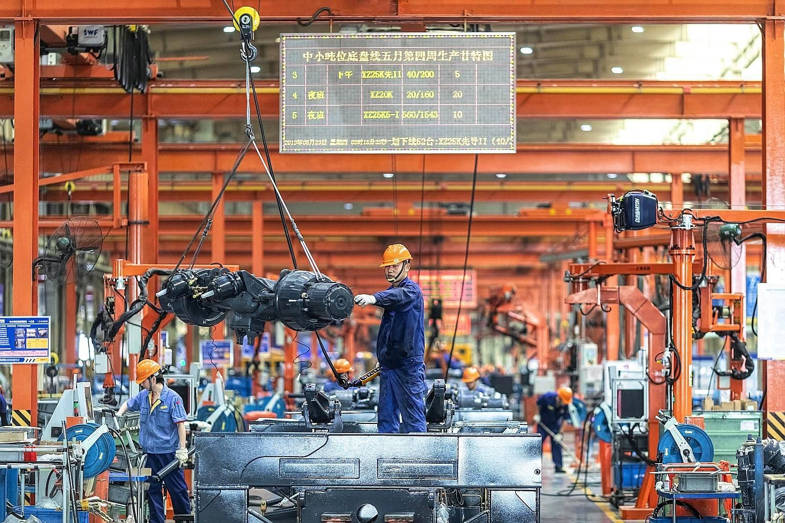 A factory in China's Jiangsu province. US President Donald Trump and Chinese President Xi Jinping agreed on the sidelines of the G-20 summit in Osaka to stand down from the escalation of the trade war. When trade talks resume, the two countries may r