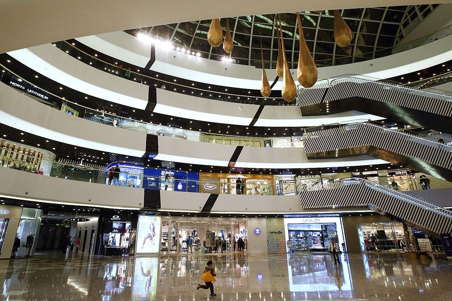 Tongzhou Wanda Plaza in Beijing, one of the malls run by Dalian Wanda Group, which has installed cameras that use behaviour-recognition technology to track shoppers' movements in its malls, such as how long a person lingers in a store and whether he