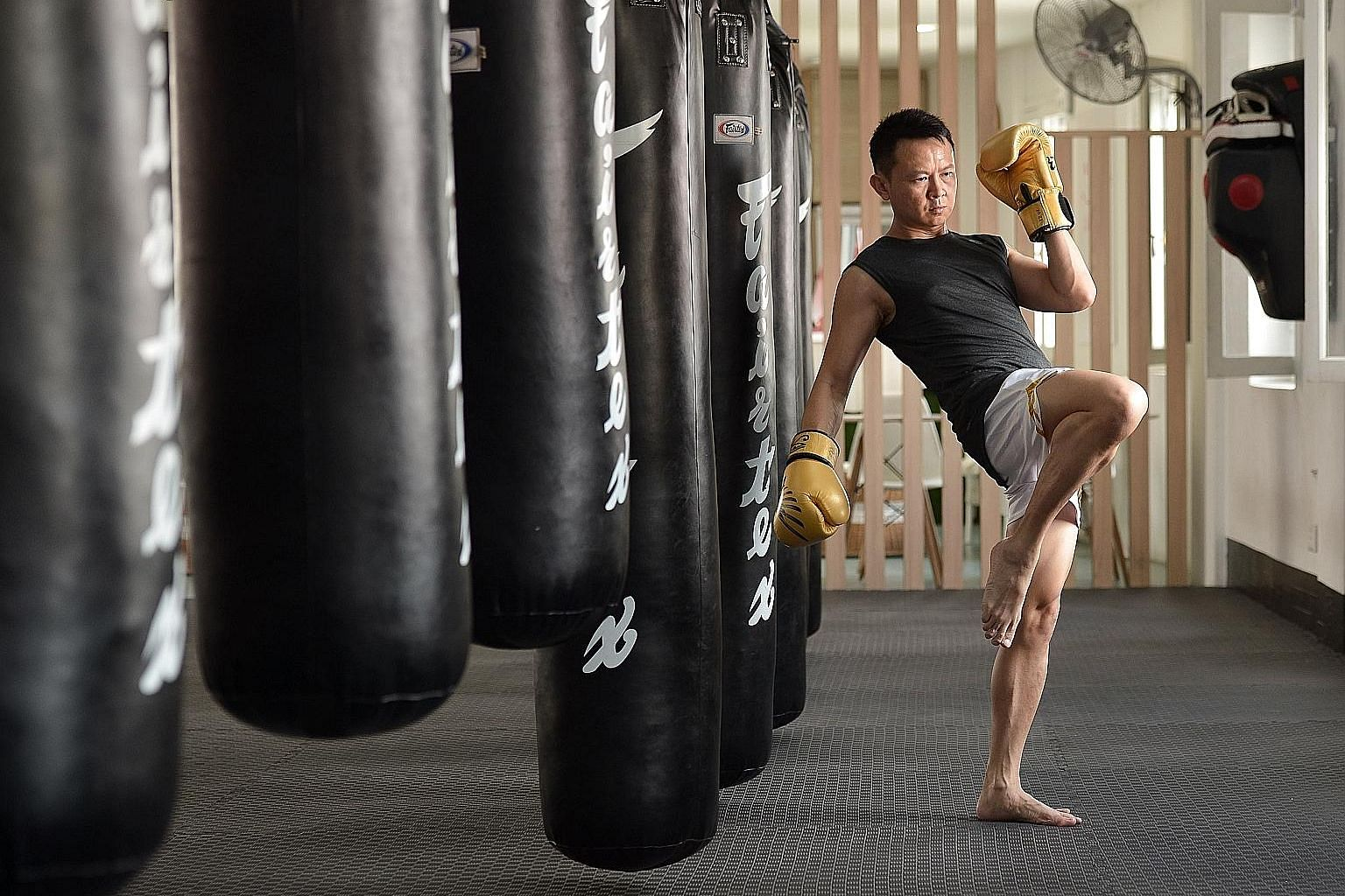 A fan of combat sports, Mr Davies Teo picked up muay thai two years ago and now trains thrice a week.