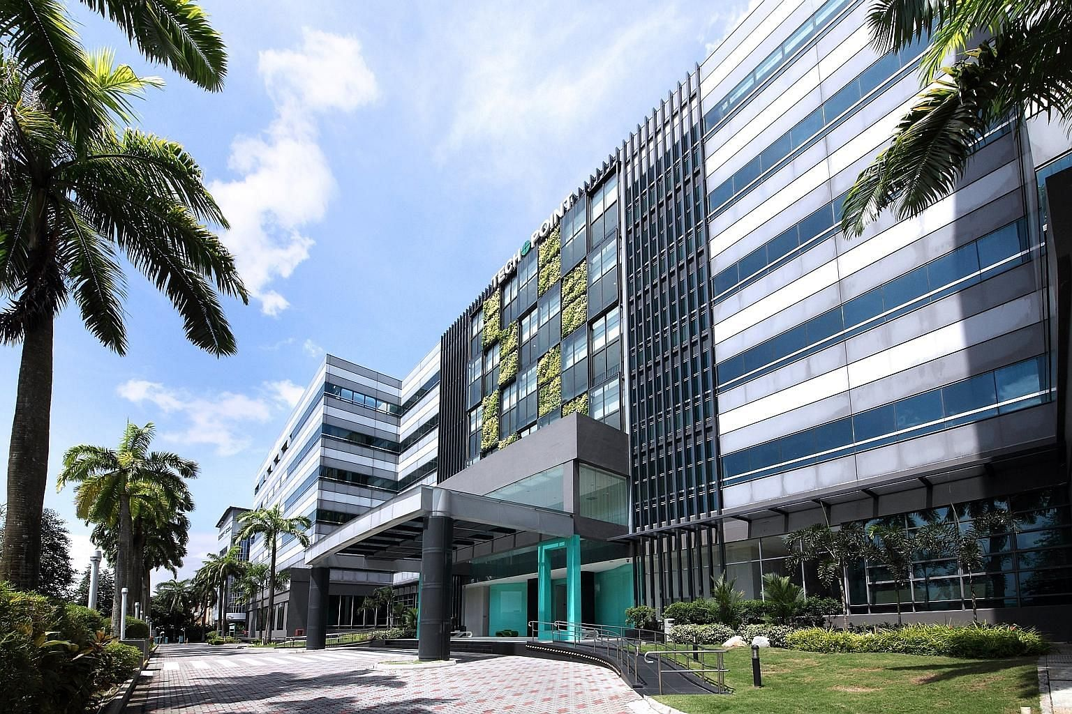 The solar panels will be installed on the rooftops of six CapitaLand properties - Techpoint (left), 1 Changi Business Park Avenue 1, 9 Changi South Street 3, 2 Senoko South Road, 40 Penjuru Lane and LogisTech. PHOTO: CAPITALAND