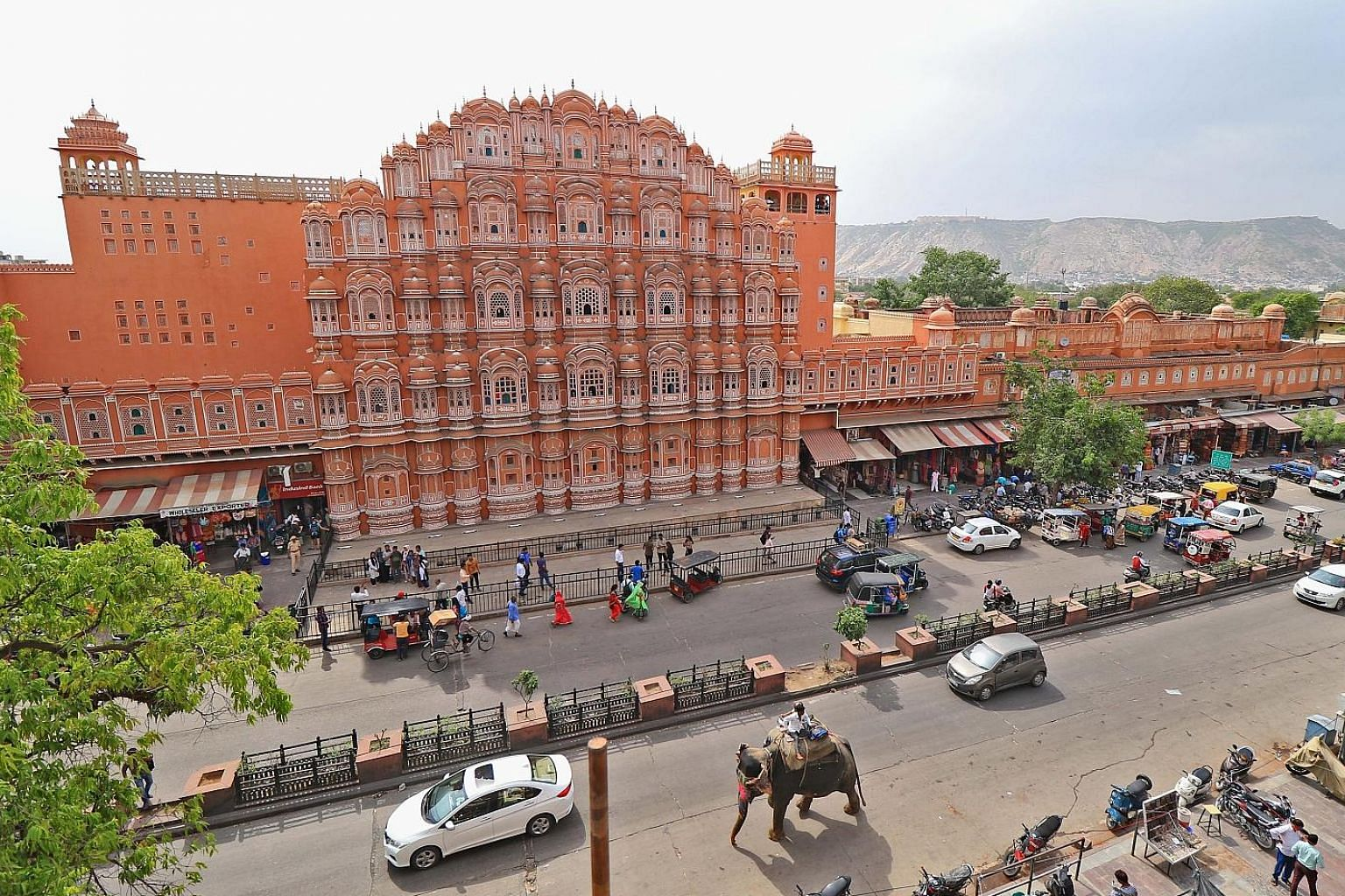 The Guggenheim Museum designed by architect Frank Lloyd Wright is one of eight Wright properties named a world heritage site. The historical Hawa Mahal palace in Jaipur, India. The Walled City of Jaipur, also known as the Pink City, has been added to
