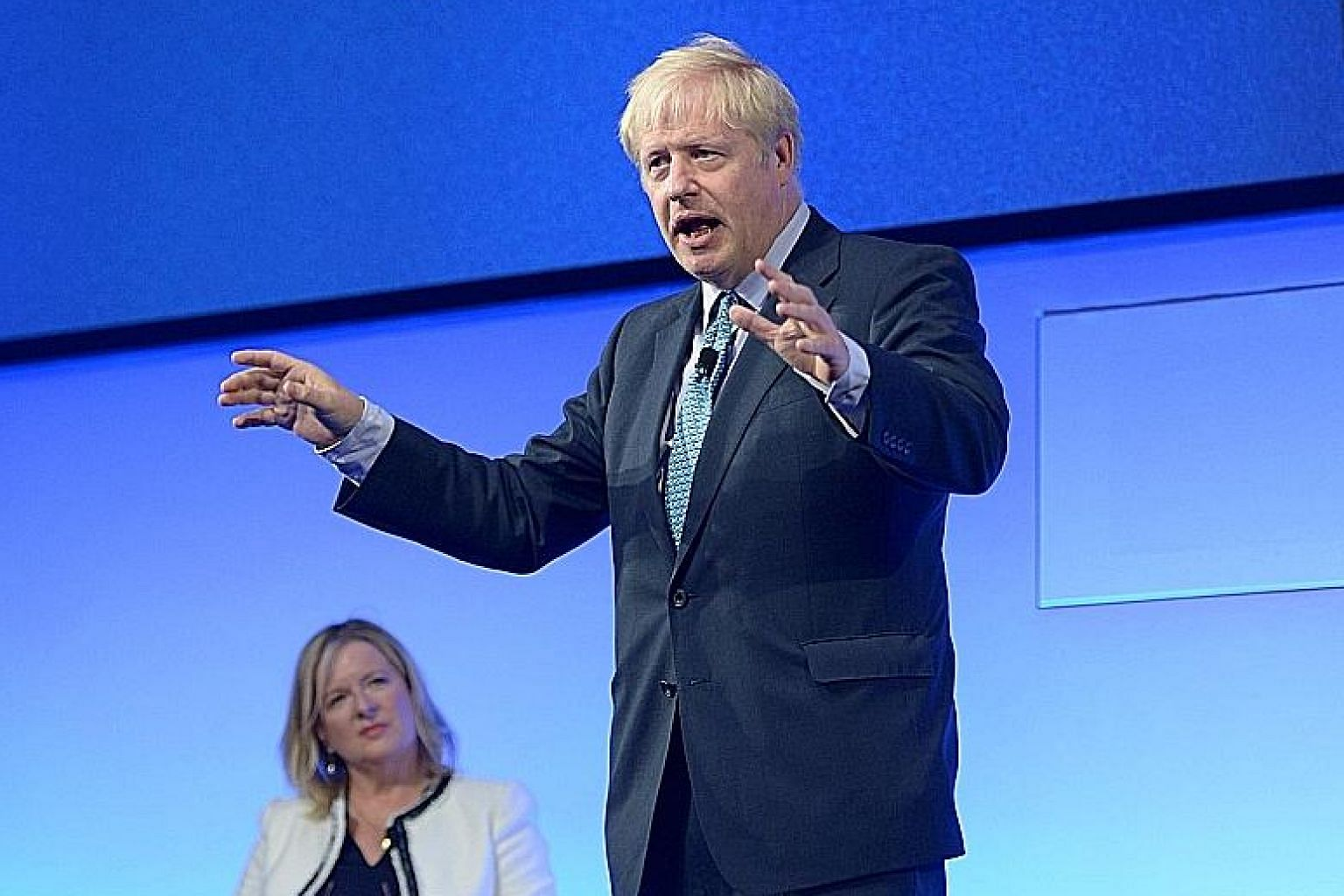 Mr Boris Johnson limited his media appearances during the early stage of the leadership campaign, but that led to accusations that he was ducking scrutiny over his Brexit plan, which critics say remains vague. PHOTO: REUTERS