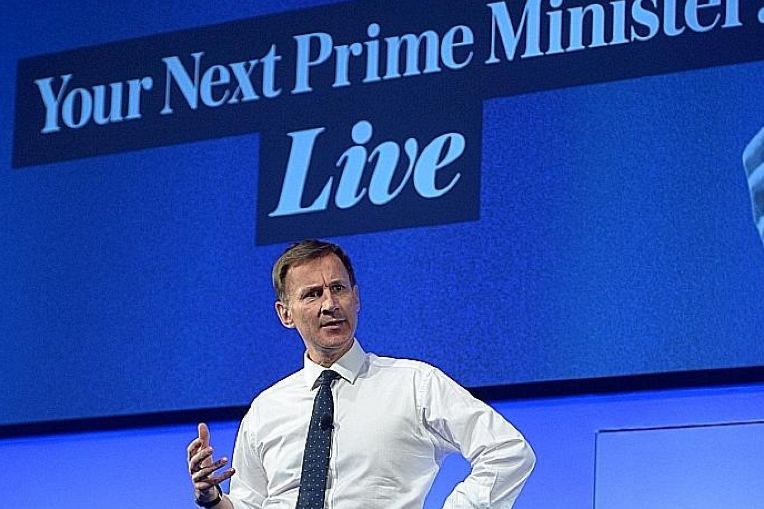 Britain's Foreign Secretary Jeremy Hunt says he is the best negotiator, the man who can be trusted to deliver Brexit and avoid the inevitable economic pain of withdrawal without an agreement. PHOTO: REUTERS