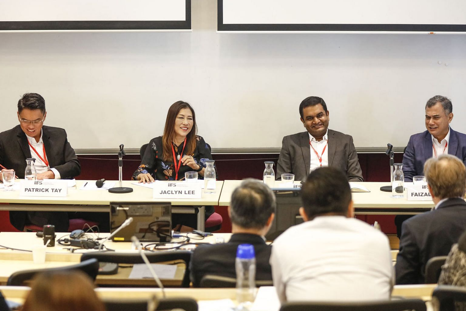 (From left) NTUC assistant secretary-general Patrick Tay; Singapore University of Technology and Design chief human resources officer Jaclyn Lee; PwC director of intelligent automation Abhijit Chavan; and Institute of Policy Studies senior research f